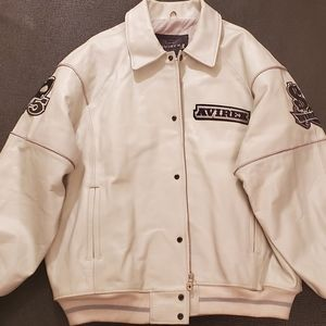 Avirex Hi-Rollers White Leather Jacket